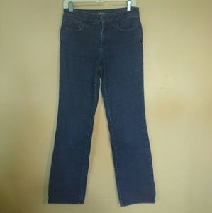 NYDJ 4 Marilyn Straight Lift Tuck Blue Jeans